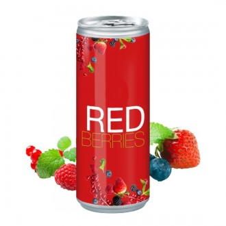 Red Berry Drink Can