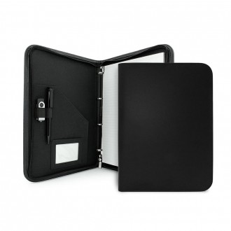 Clapham PU A4 Zipped Ring Binder