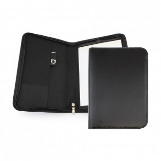 Clapham PU A5 Zipped Conference Folder