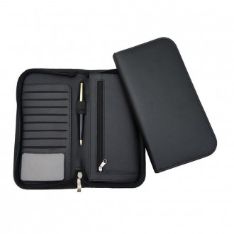 Clapham PU Deluxe Zipped Travel Wallet