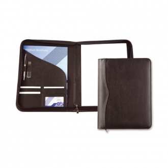 Black Houghton A4 Zipped Conference Folder