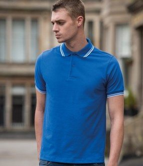 AWDis Stretch Tipped Pique Polo Shirt