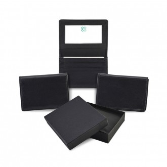 Sandringham Nappa Leather Business Card Holder with Card Window