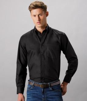 Kustom Kit Long Sleeve Classic Fit Workwear Oxford Shirt