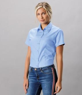 Kustom Kit Ladies Short Sleeve Tailored Workwear Oxford Shirt