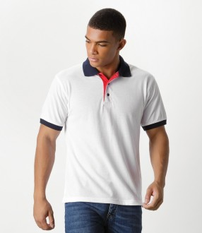 Kustom Kit Contrast Poly/Cotton Pique Polo Shirt