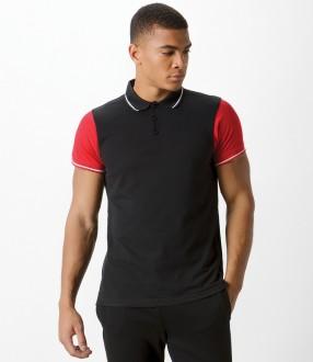 Kustom Kit Contrast Tipped Pique Polo Shirt