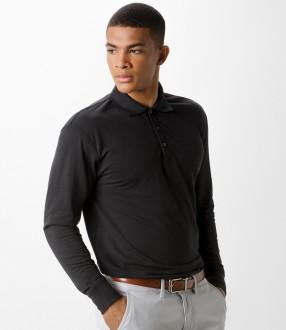 Kustom Kit Long Sleeve Poly/Cotton Pique Polo Shirt