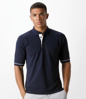 Kustom Kit Button Down Collar Contrast Pique Polo Shirt