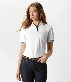 Kustom Kit Ladies St Mellion Tipped Cotton Pique Polo Shirt