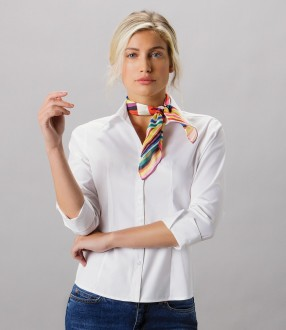 Kustom Kit Ladies Premium 3/4 Sleeve Tailored Oxford Shirt