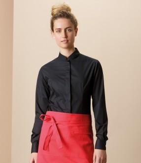Bargear® Ladies Long Sleeve Tailored Mandarin Collar Shirt