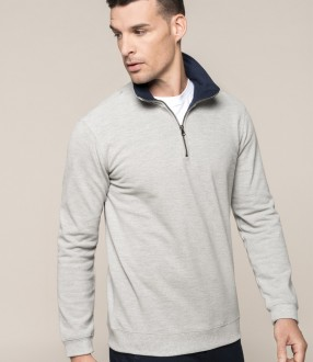 Kariban Trucker Zip Neck Sweatshirt