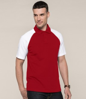 Kariban Baseball Cotton Pique Polo Shirt