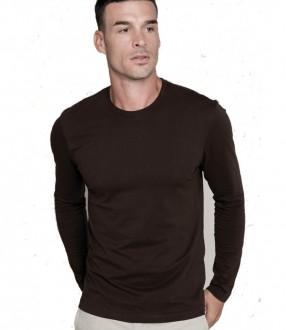 Kariban Long Sleeve Crew Neck T-Shirt