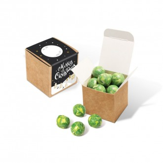 Festive Eco Kraft Cube - Chocolate Sprouts