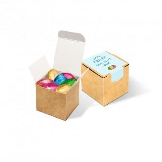 Eco Kraft Cube - Foiled Chocolate Eggs