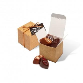 Eco Kraft Cube - Cocoa Bean Truffles