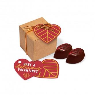 Eco Kraft Cube - Cocoa Bean Truffles - Valentine's Day