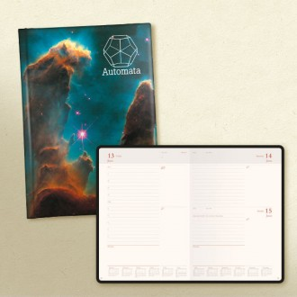 Laminate A5 Desk Diary Baron Page a Day Cream Paper