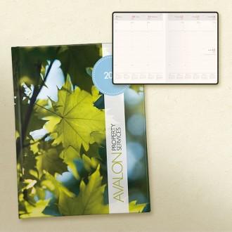 Laminate Desk Diary Statesman Compact Week to View Bookbound Cream Paper