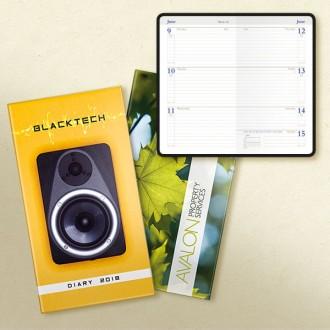 Laminate Pocket Diary Senator Week to View Bookbound White Paper