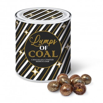 Christmas Tin - Lumps of Coal - Chocolate Coated Honeycomb