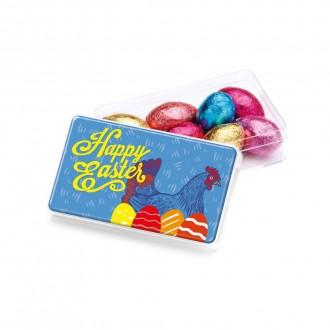 Maxi Rectangle Pot - Foiled Chocolate Eggs