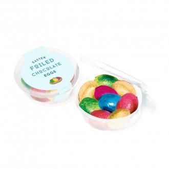Eco Midi Pot - Foiled Chocolate Eggs - Easter