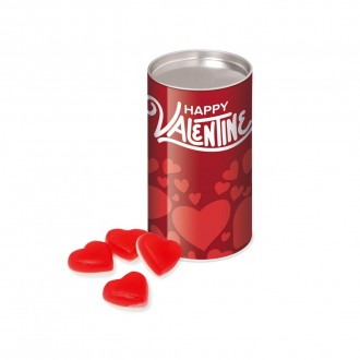 Small Snack Tube - Haribo Heart Throbs Sweets - Valentine's Day