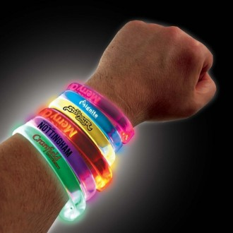 Reactive LED Flashing Wristbands