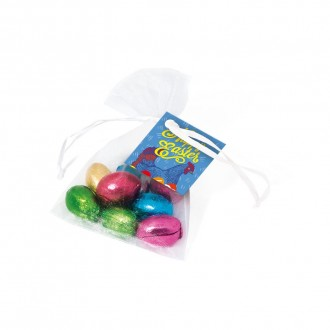Organza Bag - Foiled Chocolate Eggs