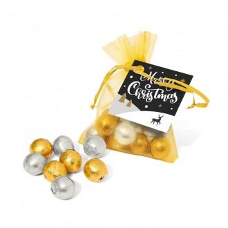 Organza Bag - Foiled Chocolate Balls