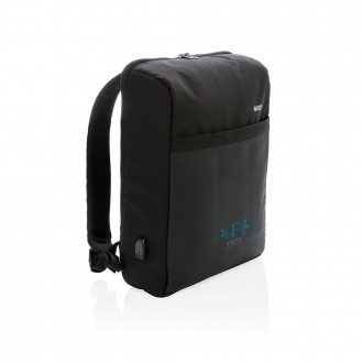 "Swiss Peak 15"" Anti-Theft RFID & USB Backpack"
