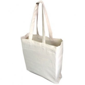 Paxton 8oz Natural Cotton Canvas Bag with Gusset