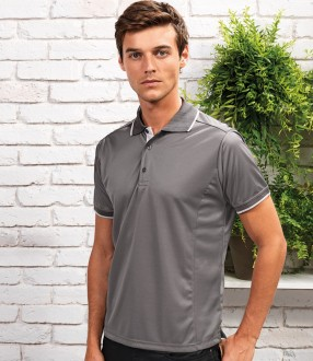 Premier Contrast Coolchecker® Pique Polo Shirt