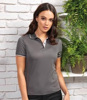 Premier Ladies Contrast Coolchecker® Pique Polo Shirt