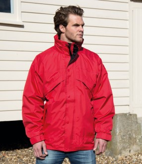 Result 3-in-1 Waterproof Zip and Clip Fleece Lined Jacket