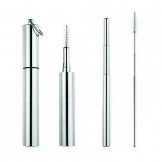 Retractable Metal Straw Set