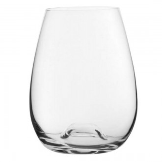 Stemless Crystal Red Wine Glass
