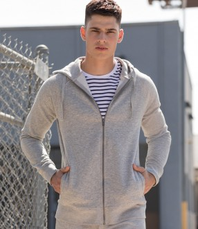 SF Unisex Slim Fit Zip Hooded Sweatshirt