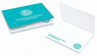 Sticky-Smart Notes A7 - Antibacterial Laminated Cover