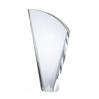 Medium Crystal Harp Shaped Award
