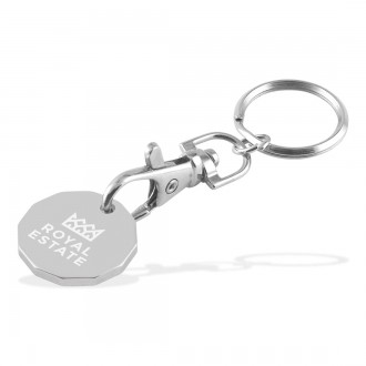 Trolley Coin Keychain