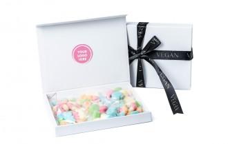 Branded Letter Box Vegan Sweets - Neon