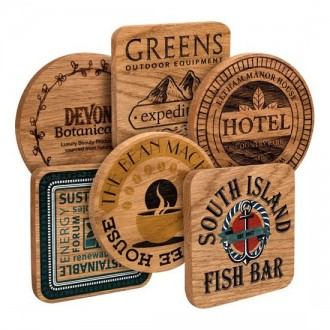 Real Wood Coasters