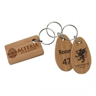 Real Wood Key Rings