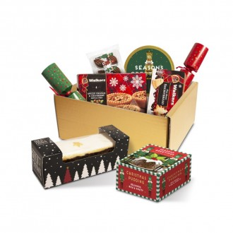 Festive Luxury Selection Gift Box with Crackers