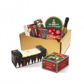 Festive Luxury Selection Gift Box with Prosecco