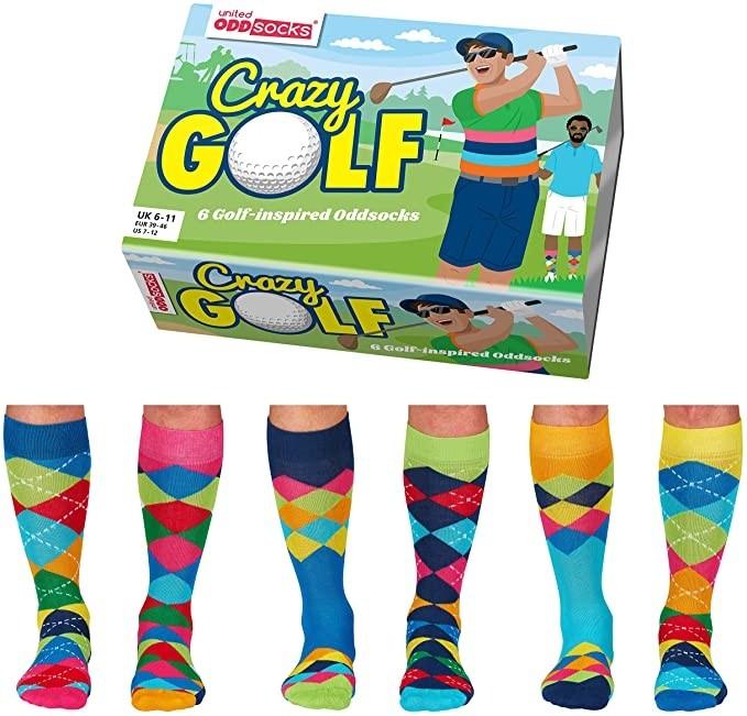 Crazy Golf - Socks for Men by United Oddsocks UK 6-11